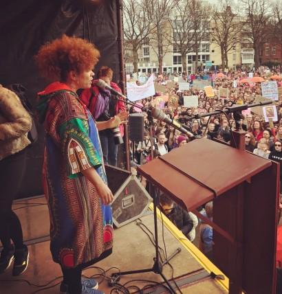 Optreden Women's March & Vrouwendag